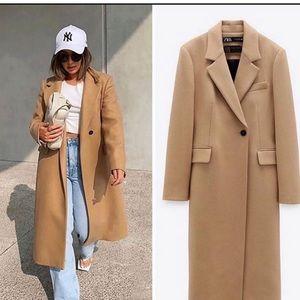 Zara wool long coat bloggers favorite
